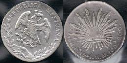 MEXICO 8 REALES CHIHUAGUA 1894 PLATA SILVER - Mexico