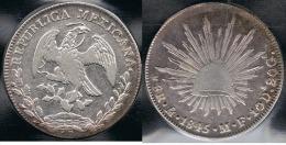 MEXICO 8 REALES MEXICO 1845 PLATA SILVER - Mexico