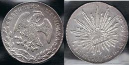 MEXICO 8 REALES SAN LUIS POTOSI 1882 PLATA SILVER - México