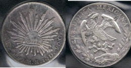 MEXICO 8 REALES SAN LUIS POTOSI 1888 PLATA SILVER - Mexico