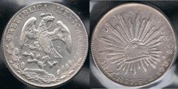 MEXICO 8 REALES ZACATECAS 1887 PLATA SILVER - Mexico