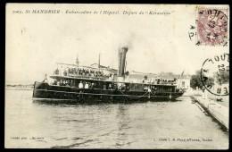 Cpa Du 83 St Mandrier - Embarcadère De L' Hôpital -- Départ Du Kéraudren   FRM 4 - Saint-Mandrier-sur-Mer