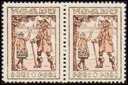 1924. JULEN. Pair With Print On Back. Unusual. (Michel: 1924) - JF128415 - Non Classés