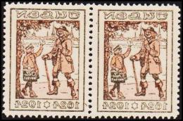 1924. JULEN. Pair With Print On Back. Unusual. (Michel: 1924) - JF128416 - Non Classés