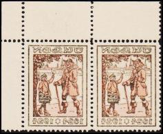 1924. JULEN. Pair With Print On Back. Unusual. (Michel: 1924) - JF128399 - Non Classés