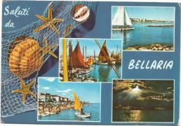 B3623 Saluti Da Bellaria (Rimini) - Conchiglia Shell Coquille Stella Marina Starfish / Viaggiata 1970 - Italie