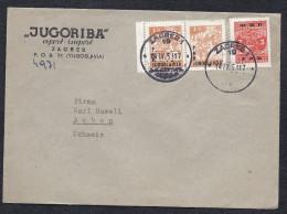 JUGO RIBA EXPORT IMPORT FISCH POISSON FISH ZAGREB YUGOSLAVIA FNR OVERPRINTED Pour ARBON SUISSE - 1945-1992 Socialistische Federale Republiek Joegoslavië