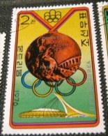 North Korea 1976 Olympic Games - Montreal, Canada - Winners Pakistan - Hockey 2ch - Used - Korea (Noord)