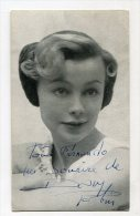 "AUTOGRAFO DÉDICACÉ AUTOGRAPHED ""DANY ROBIN"" FRENCH ACTRESS ACTRICE SIGNATURE 1954 EXCLUSIVE NON CIRCULEE GECKO - Autographs"