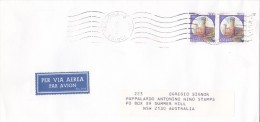 Italy 1998 Castles 700 Lire Pair On Cover Sent To Australia - 6. 1946-.. Republic
