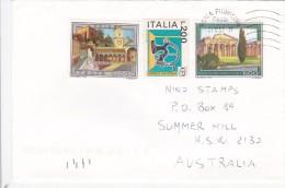 Italy 2002 PaestumUdine,Bollatrice A Mano On Cover Sent To Australia - 6. 1946-.. Republic
