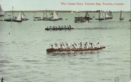 War Canoe Race - Toronto Bay - Otario - Canada - The Valentine & Sons Publishing Co. - Carte Non Circulée - Toronto
