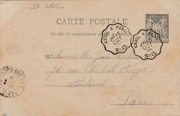 - 95 - Carte De SAINT-LEU De 1895 - 020 - Entiers Postaux