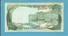 VIET NAM SOUTH - 100 DONG - ND ( 1972 ) - P 31 - Série A/87 - Palace Of Independence / Farmer 2 Water Buffalo - VIETNAM - Vietnam