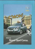 OPEL CORSA - C'MON! - Com Tecto De Abrir - PUBLICIDADE - Advertising - Portugal - 2 SCANS - Turismo