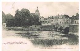 Arcis Sur Aube : L'église, Le Pont Et La Route De Châlons - Arcis Sur Aube