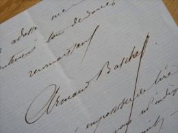 Armand BASCHET (1829-1886) Journaliste - Polémiste ... - AUTOGRAPHE - [ BLOIS ] - Autographes
