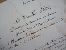 Baron Jean Marie DELAIRE (1781-1861) Mari Joséphine De Cambacérès - PDT Cour Des Comptes  - AUTOGRAPHE. - Autographes