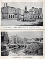 Guerre 1914 - 1918 -  FRESNES-en-WOËVRE ( Meuse ) -  Série De 12 Cartes Numérotées -  Hôtel De Ville, Rue De Metz... - War 1914-18