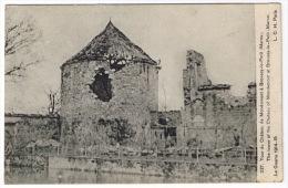 BROUSSY LE PETIT   TOUR DU CHATEAU DE MONDEMONT GUERRE 1914-15  SCAN VERSO - Otros Municipios