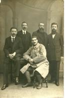 A Identifier. Cpa Photo D'un Groupe De Notables Aux Belles Moustaches Dont Un Officier De L'armée, Photo De C Tournachel - A Identifier