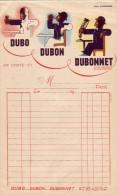 FACTURE   DUBONNET - 1900 – 1949