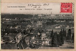 X64065 JURANCON Environs de PAU vue g�n�rale 30.01.1907 - PYRENEES ILLUSTREES N�604 - Basses Pyren�es Atlantiques