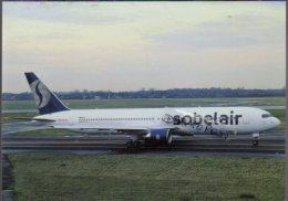 Boeing 767-3BG ER Aircraft Sobelair Airlines B 767 Avion Aviation B767 Airplane B-767 Luft Sabena - 1946-....: Era Moderna