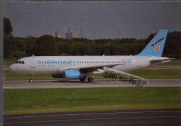 Airbus A320-323 Aircraft Turkuaz Airlines  A 320 Avion Air Aviation A320 Airplane A-320 Luft Dusseldorf - 1946-....: Era Moderna