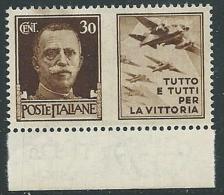 1942 REGNO PROPAGANDA DI GUERRA 30 CENT MNH ** - VA02-2 - 1900-44 Victor Emmanuel III.