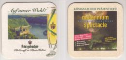 Königsbacher Brauerei Koblenz Auf Unser Wohl , Millennium Spectacle , 1999 , 2000 - Beer Mats