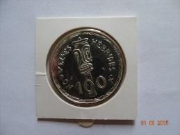 Pièce De 100 Francs ESSAI Argent Des Nouvelles Hébrides 1966 !! - Colonies
