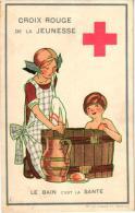 5 C Post.  Rood KRuis  Croix Rouge De Le Jeunesse Sport Illustr Maggie Salzedo  Le Bain C´est La Santé    Impr. Goossens - Croix-Rouge