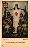 6 CP Rood Kruis Croix Rouge De Belgique   Ilustr. Allard L'Olivier  Elle Secourt Et Console Les Infortunes  La Mort - Croix-Rouge