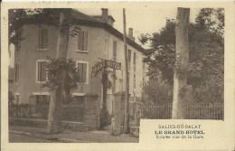 SALIES DU SALAT - LE GRAND HOTEL -entrée Vue De La Gare - Salies-du-Salat