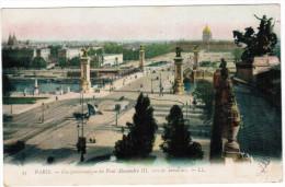 CPA Paris, Vue Panoramique Du Pont Alexandre III Vers Les Invalides (pk20521) - Bruggen