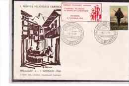 TEM2301  -   TOLMEZZO  6.1.1968    /    1° MOSTRA FILATELICA CARNICA IN ONORE DELL'EMIGRANTE - Esposizioni Filateliche