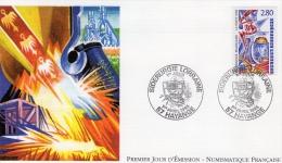 PREMIER JOUR 1995 à HAYANGE : Sidérurgie Lorraine - FDC