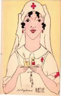 5 CP Rood Kruis Infirmière  Illustr. Mazrthe Buhl    La Major - Croix-Rouge