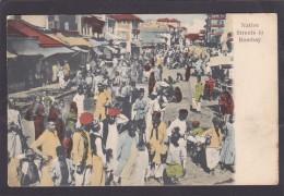 Antique Card, Native Streets In, Bombay, Mumbai, Maharashtra, India, K6. - India