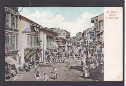 Antique Card, A Native Street In , Bombay, Mumbai, Maharashtra, India, K6. - India