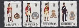 Gibraltar 1976 Uniforms 4v  ** Mnh (21994A) - Gibraltar