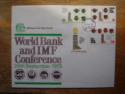KUT 1973 WORLD BANK / IMF Conference FULL SET (4 Values) On FDC. - Kenya, Uganda & Tanganyika