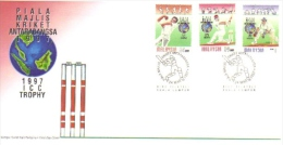 15W : Malaysia FDC 1997 International Cricket Trophy - Malaysia (1964-...)