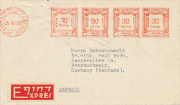 JERUSALEM - 1953 , Freistempel - Express - Israele