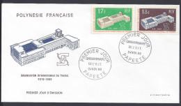 POLYNESIE FRANCAISE - 1969-70 -  DEUX ENVELOPPES 1er JOUR - TIMBRES POSTE N° 70-71 & 80-81 - - Polynésie Française