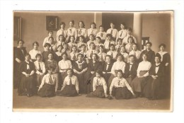 Carte Photo : YORK : York Municipal Secondary School For Girls : Senior Pupils & Staff : école Municipale De Filles - England