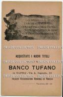 CARTOLINA SOTTOSCRIZIONE PRESTITO NAZIONALE BANCO TUFANO VENEZIA NAPOLI - Banques