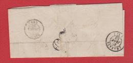Lettre   //    Départ  Chablis   //  25 Janvier 1852 - Marcophilie (Lettres)