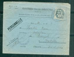 LETTRE  Affranchie Par Yvert N°107 Seul Sur Lettre Des Contributions Directe Oblitéré Luynes En 1926 Am10108 - 1900-29 Blanc